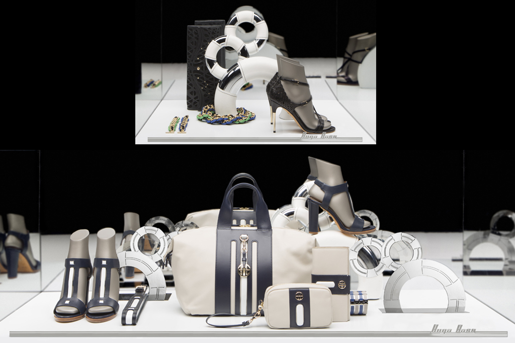 Display stands footwear and accessories Hugo Boss