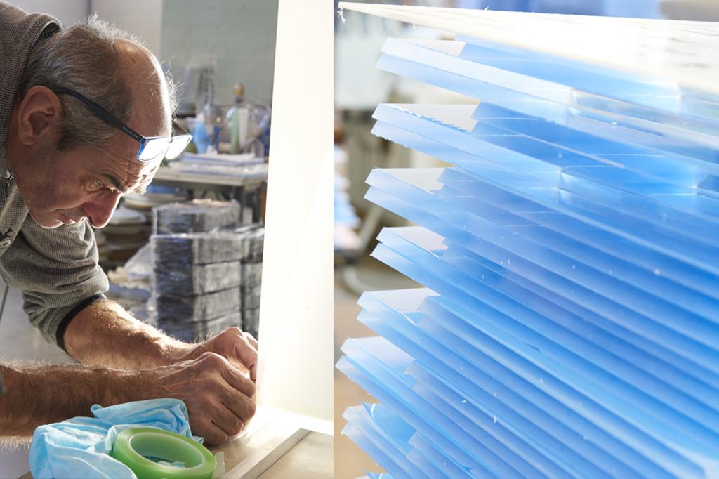 Produzione Plexiglass, trattamento