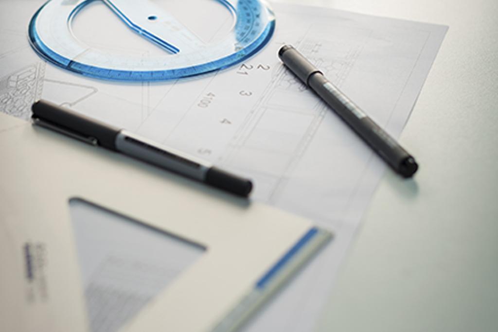 Progettazione: squadra e goniometro