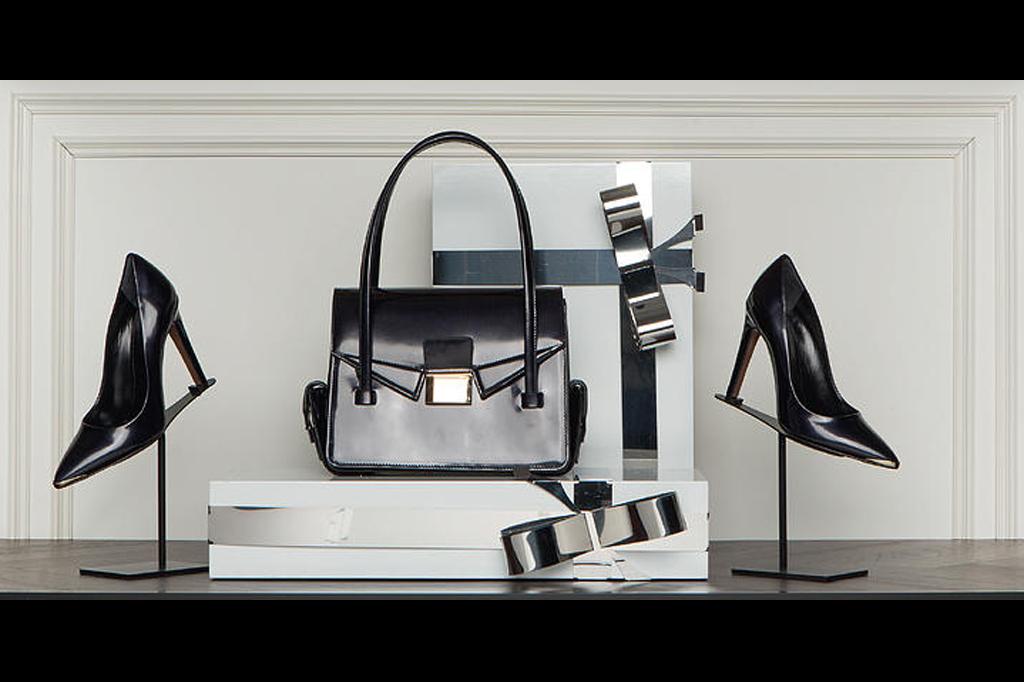 espositori scarpe e borse