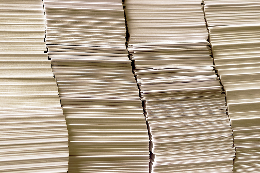Sostenibilità - carta riciclata