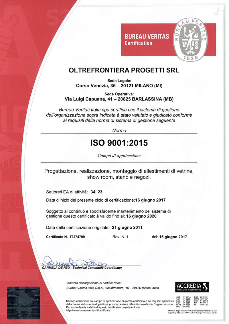 OLTREFRONTIERA PROGETTI SRL - 9001 - ITA